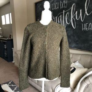 J. CREW | acrylic wool button up cardigan green S